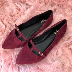Fioni | Wine Colored Pointed Flats